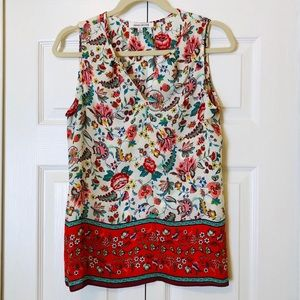 Rose & Olive Sleeveless Blouse